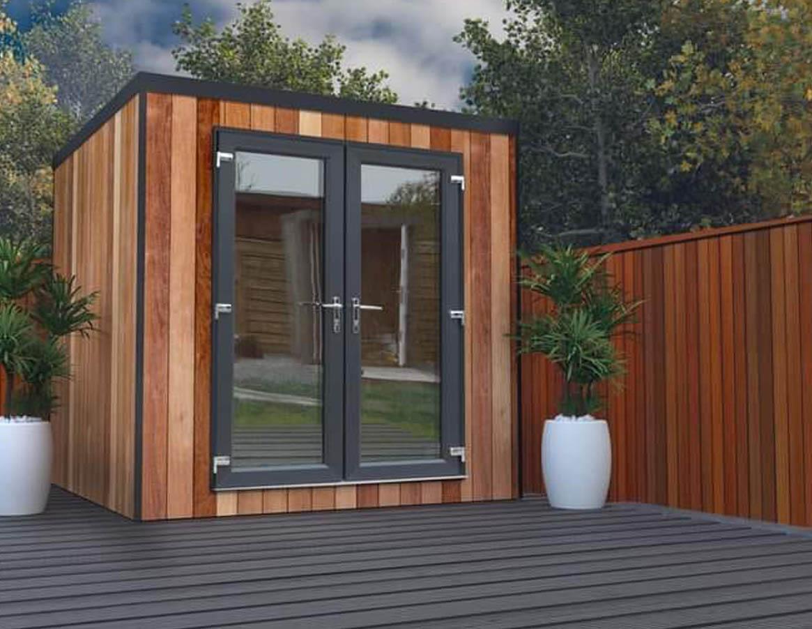 Home Office Pod In Garden Setting